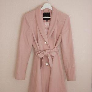 Ivanka Trump Pink Wool Blend Midi Coat